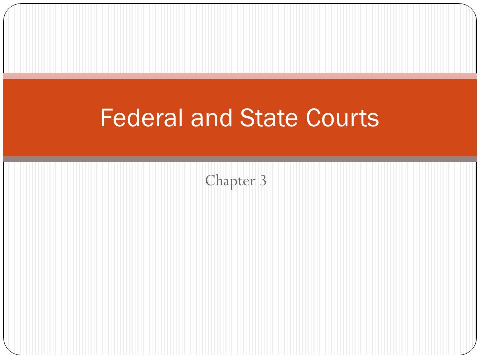 Why are there two separate court systems in the United States.