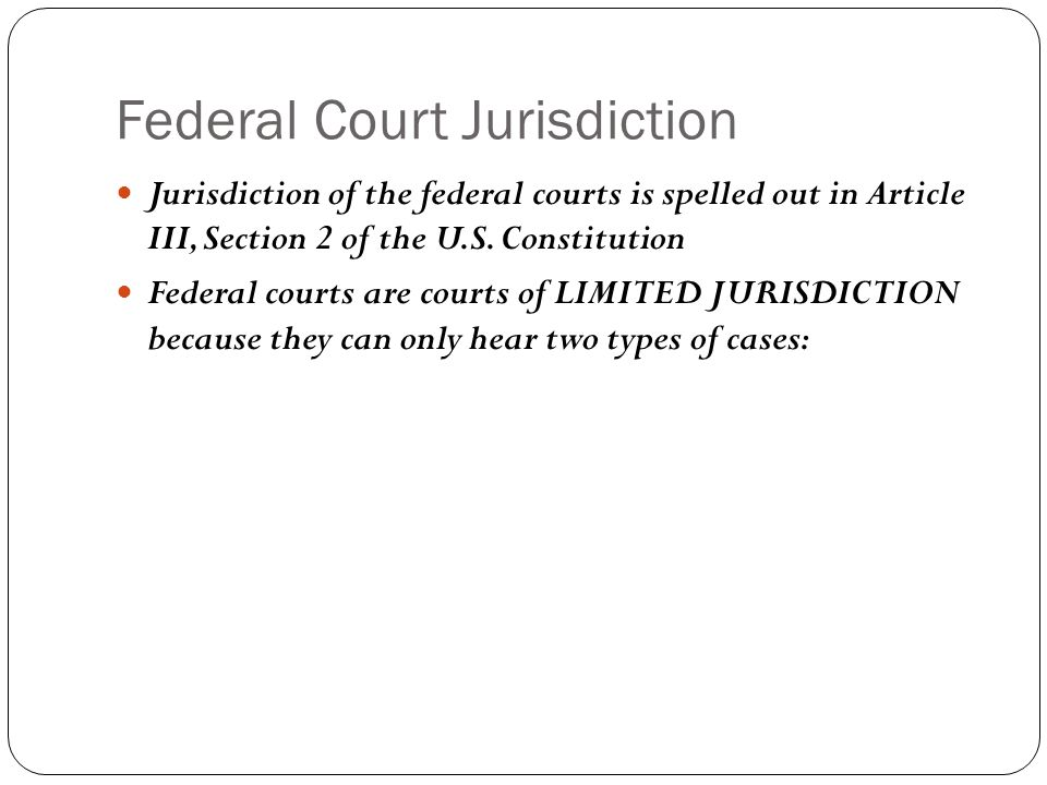 Federal Court System Why were the special courts created.