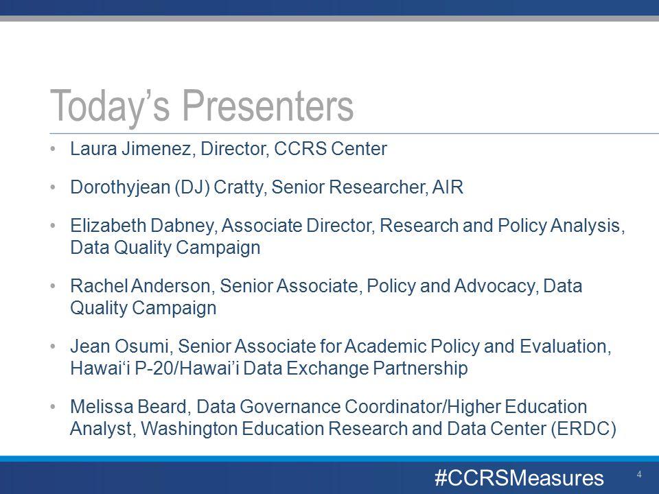 Hawai'i Data eXchange Partnership Data Governance CCRS Center and AYPF webinar March 23, 2015 Jean Osumi, EdD 35 #CCRSMeasures