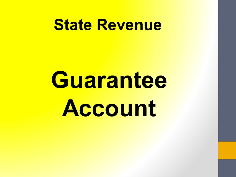 Guarantee Account State Revenue