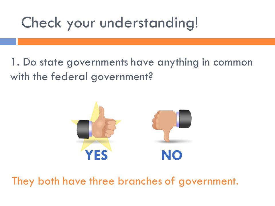 Check your understanding.2. Do all states have a bicameral legislature.