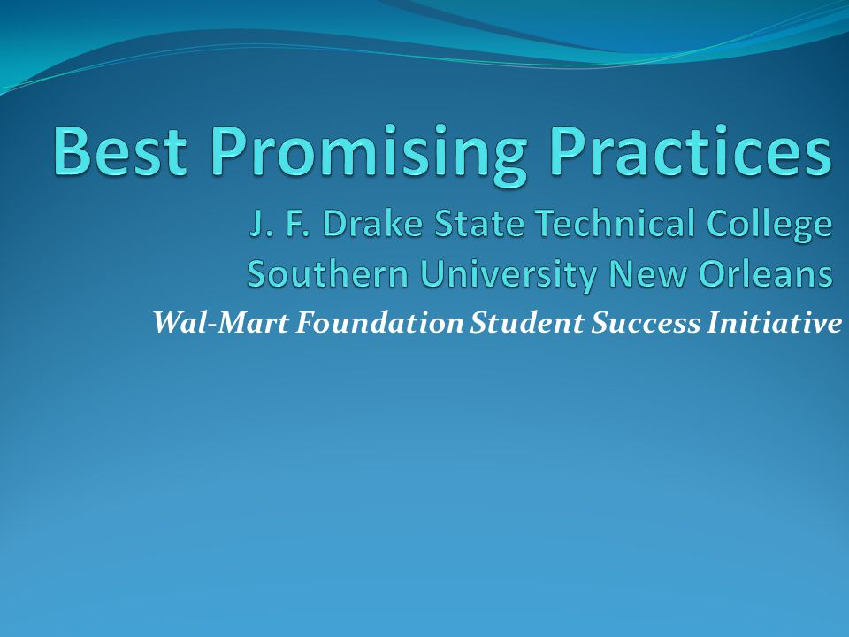 Wal-Mart Foundation Student Success Initiative