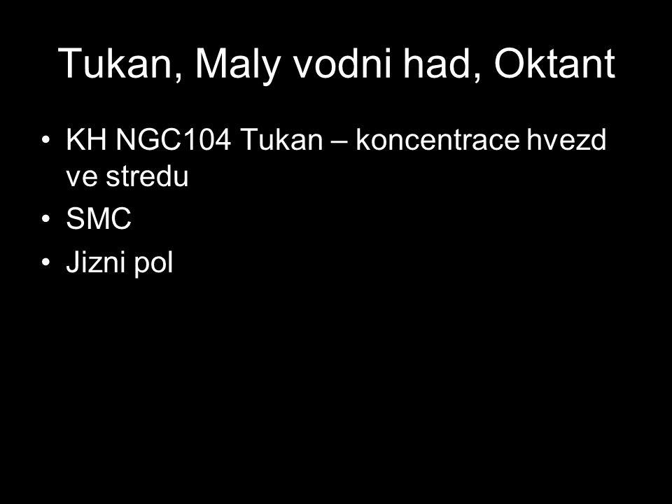 Tukan, Maly vodni had, Oktant KH NGC104 Tukan – koncentrace hvezd ve stredu SMC Jizni pol