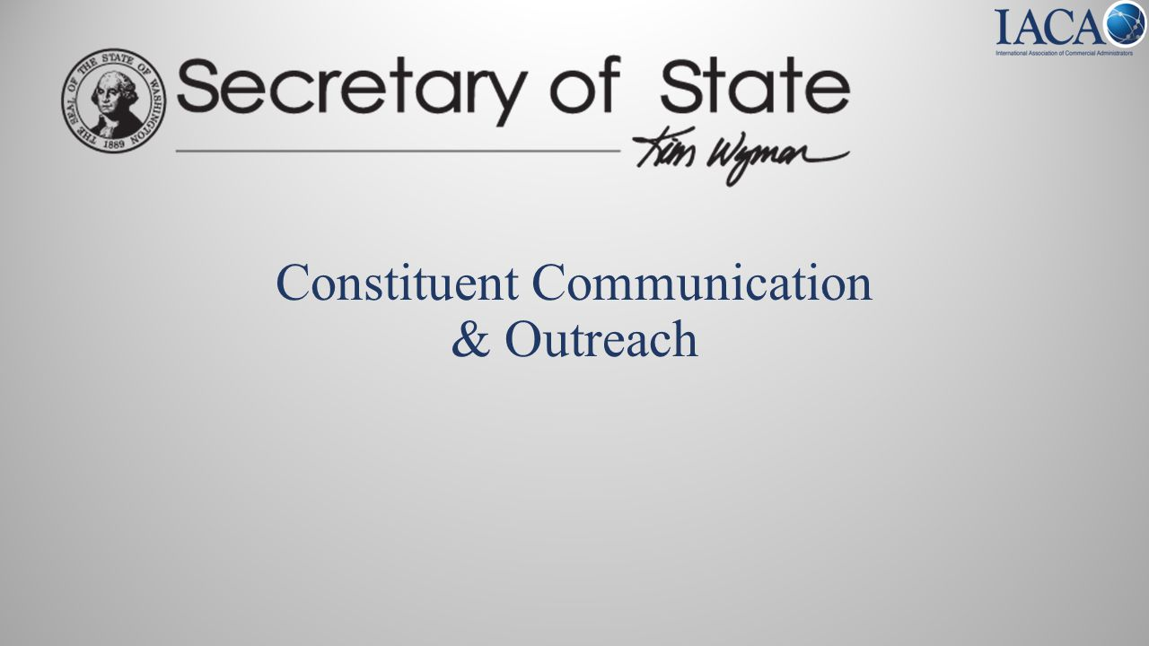 Constituent Communication & Outreach