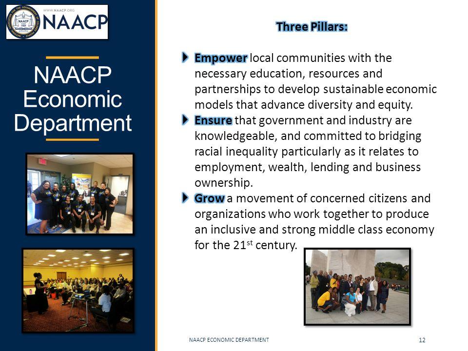 NAACP Economic Department NAACP ECONOMIC DEPARTMENT 12