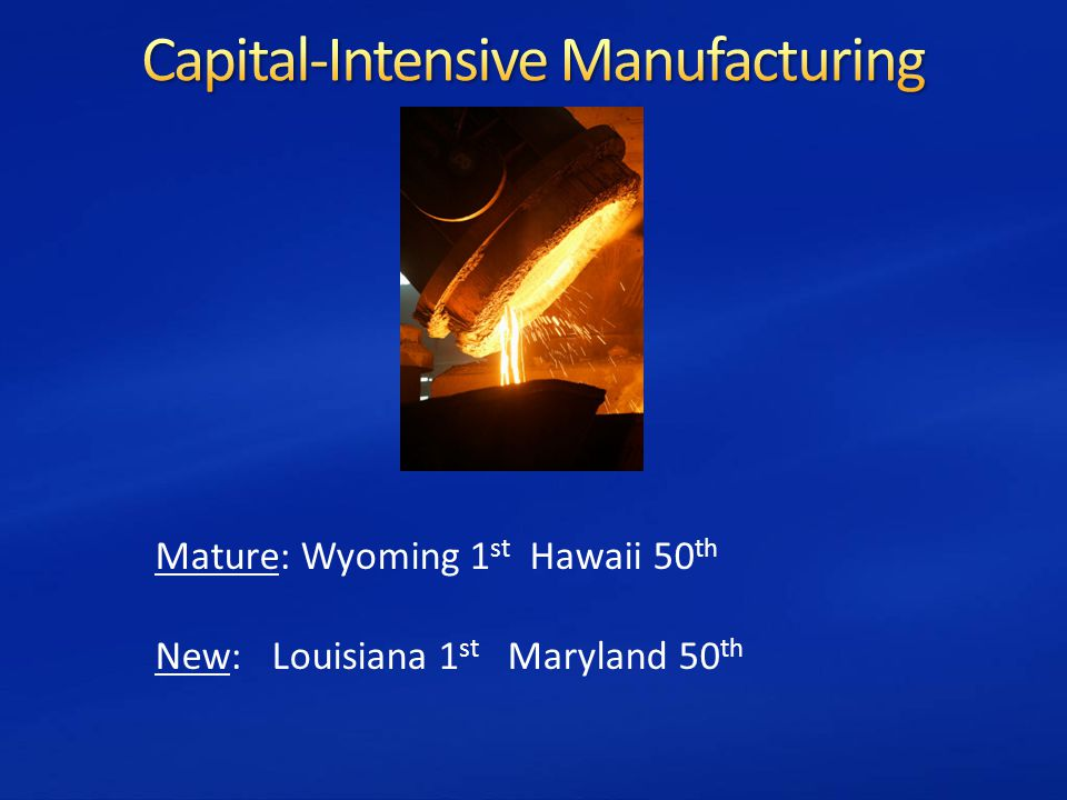 Mature: Wyoming 1 st Hawaii 50 th New: Louisiana 1 st Maryland 50 th