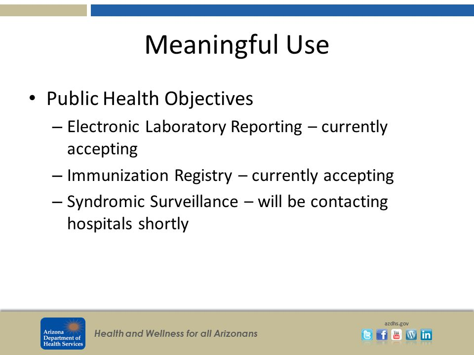 Health and Wellness for all Arizonans azdhs.gov Counties Interview Cases You See ADHS Epidemiology County Health Dept.