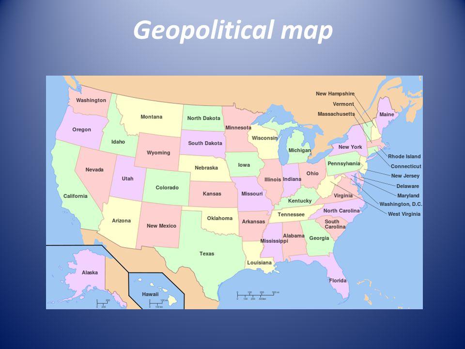 Geopolitical map