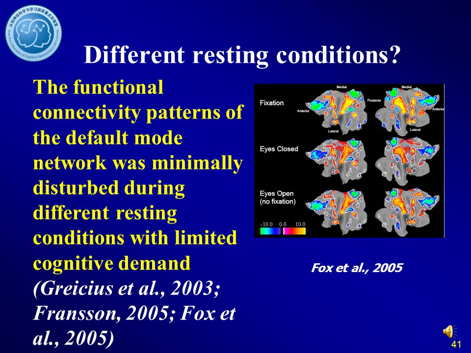 41 Different resting conditions.