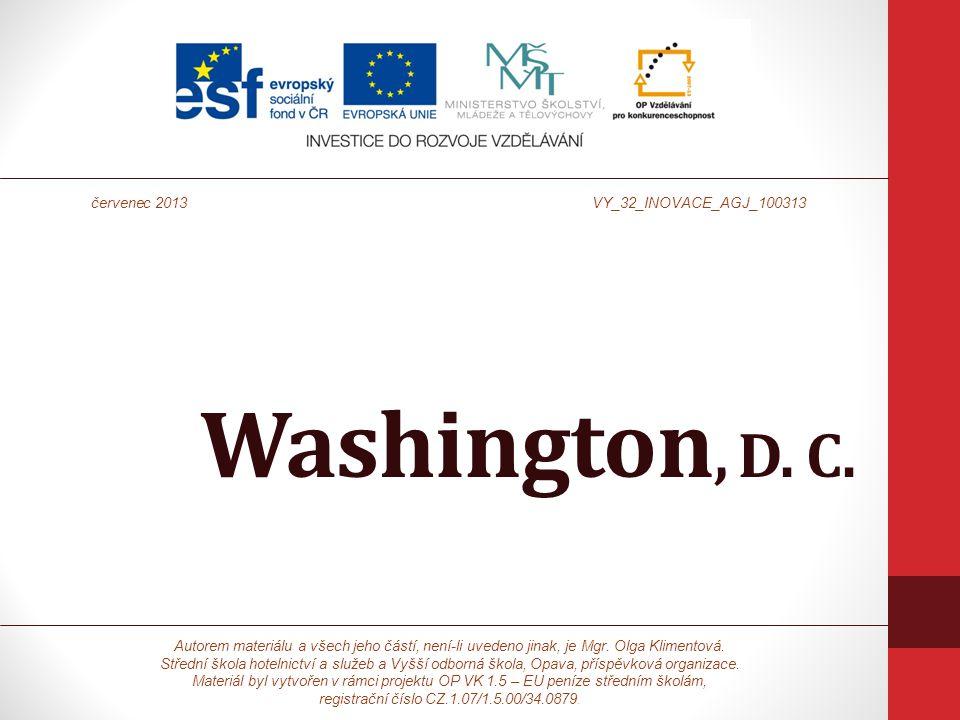 Washington, D. C. Autorem materiálu a všech jeho částí, není-li uvedeno jinak, je Mgr.