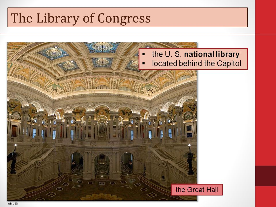 The Library of Congress obr. 10 the Great Hall  the U.