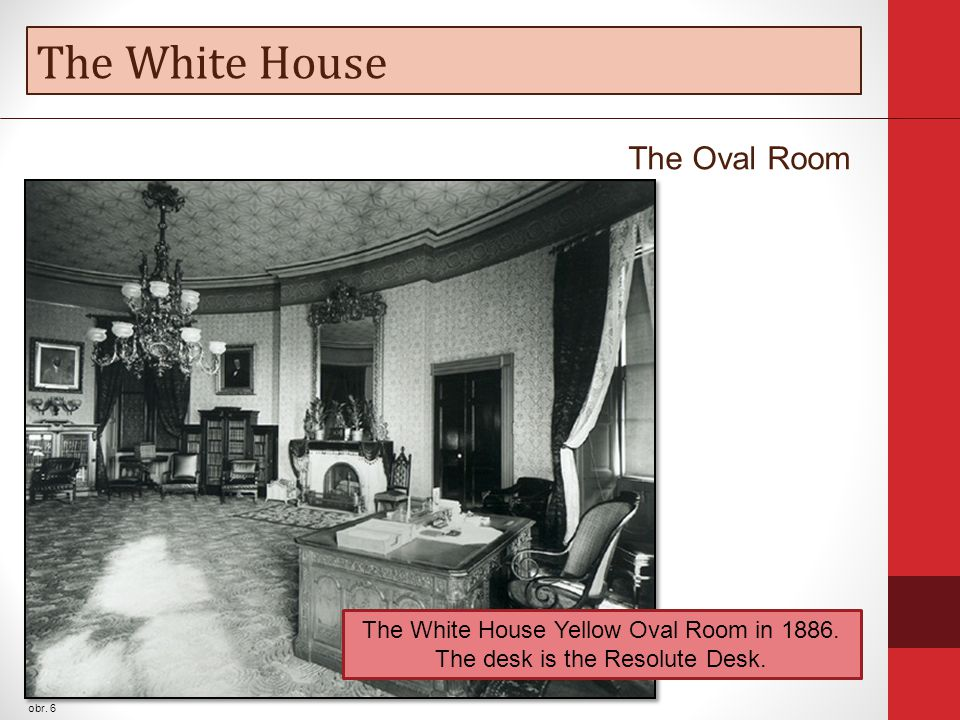 The White House obr. 6 The Oval Room The White House Yellow Oval Room in