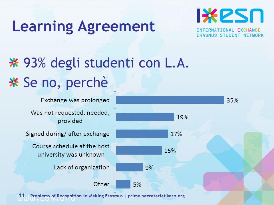 93% degli studenti con L.A.