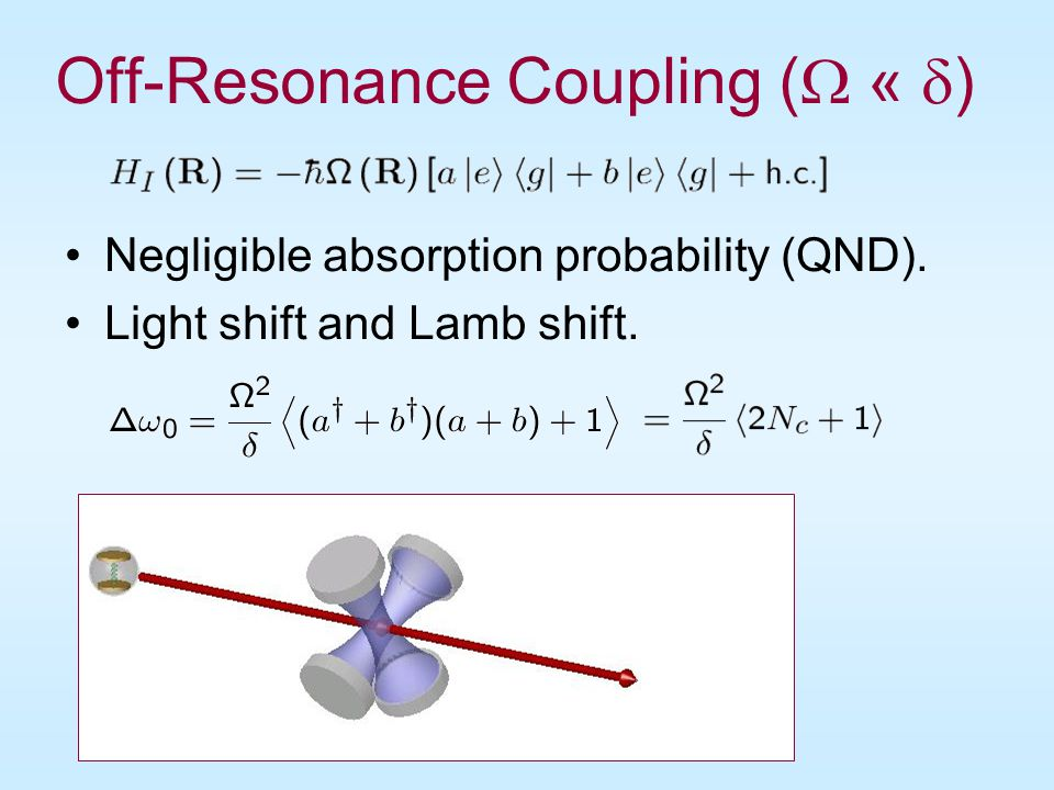 Ramsey Interferometery 1 0.5 0 1 0.5 0 g Probability e Probability Transforming phase difference to excitation probabilities…