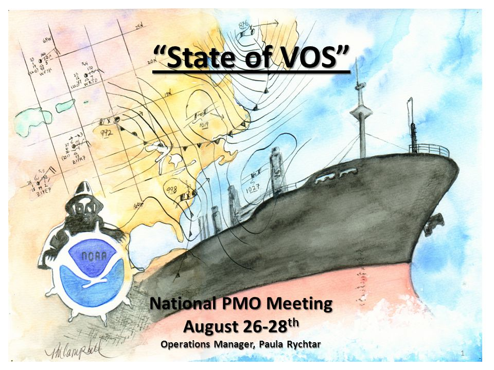 State of VOS National PMO Meeting August 26-28 th Operations Manager, Paula Rychtar 1