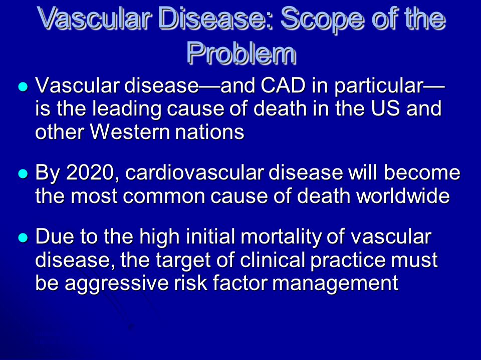 American Heart Association , 2000 Heart and Stroke Statistical Update, 1999; Braunwald E, N Engl J Med, 1997; Kannel WB in Atherosclerosis and Coronary Artery Disease, 1996.
