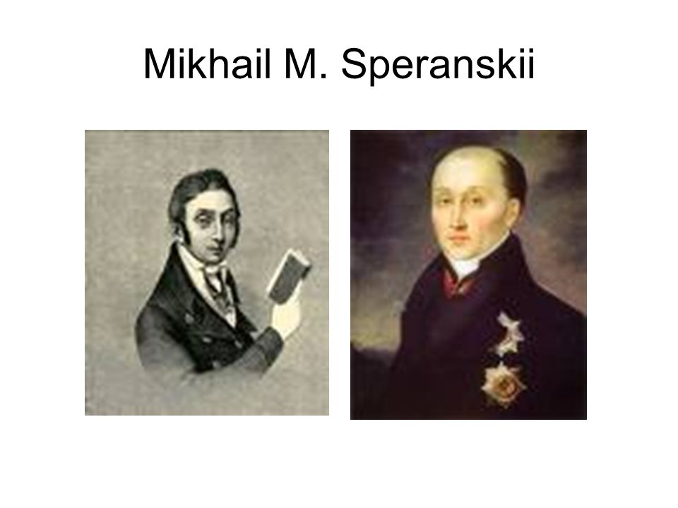 Mikhail M. Speranskii