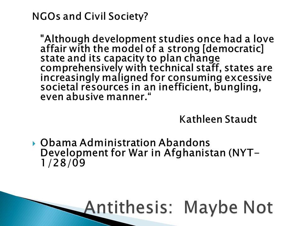 NGOs and Civil Society.