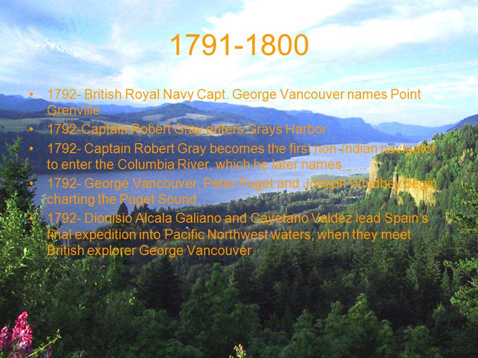 1791-1800 1792- British Royal Navy Capt.