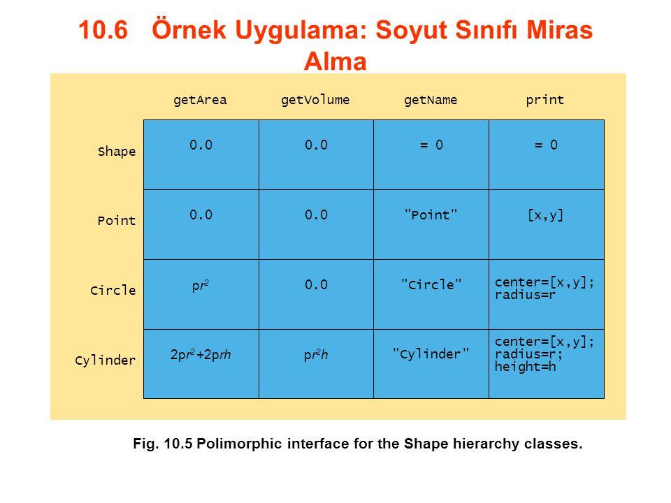 10.6 Örnek Uygulama: Soyut Sınıfı Miras Alma 0.0 = 0 0.0