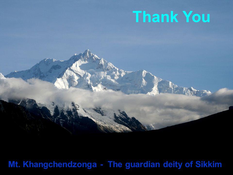 Thank You Mt. Khangchendzonga - The guardian deity of Sikkim