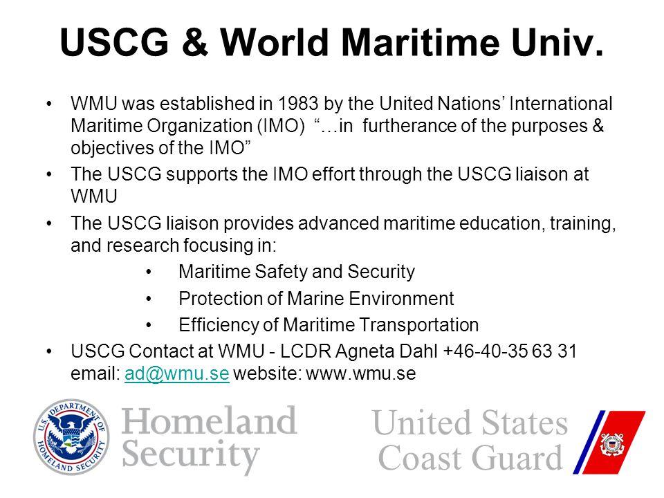 USCG & World Maritime Univ.