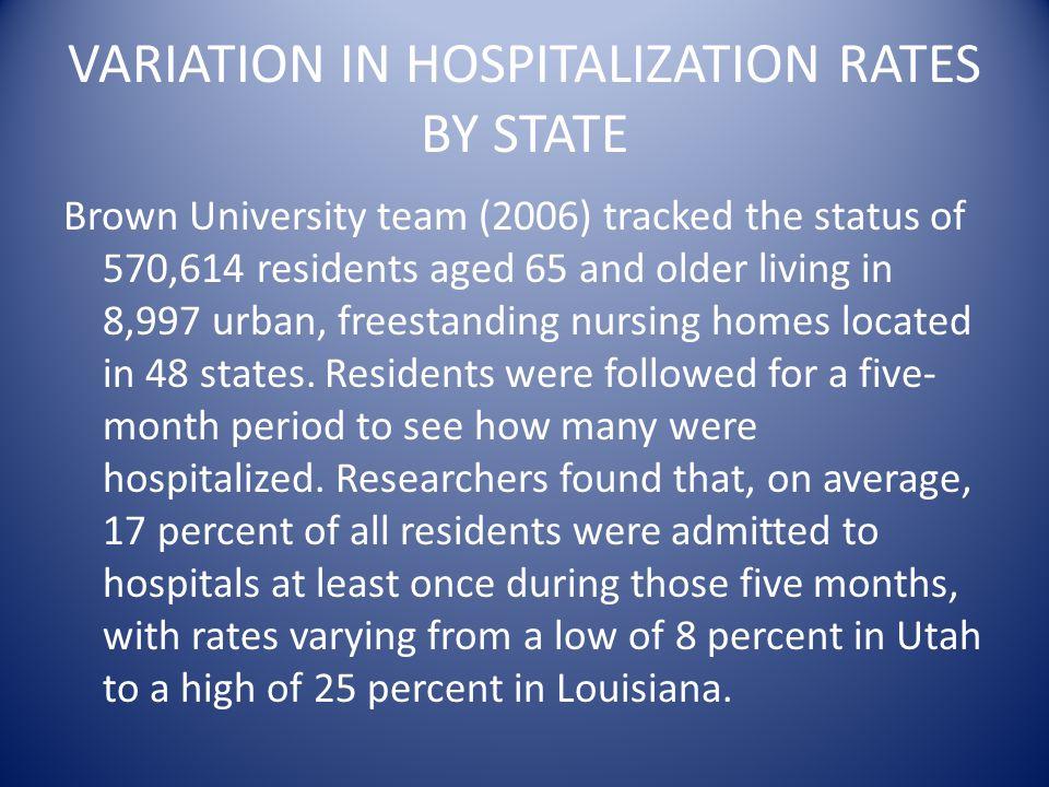 Hospitalization Rates of the Frail Elderly 2006-Brown University 2006