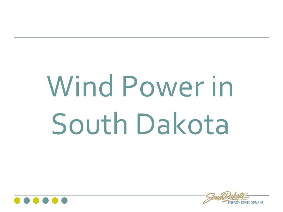Wind Power in South Dakota