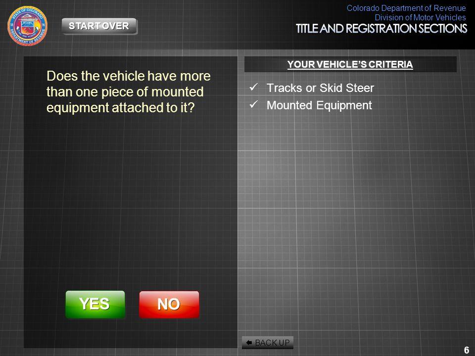 Colorado Department of Revenue Division of Motor Vehicles 27 EXIT VACANT