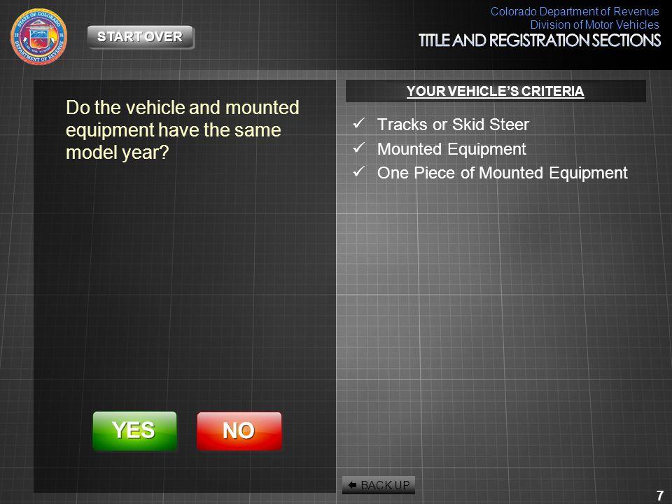 Colorado Department of Revenue Division of Motor Vehicles 58 I'm Sorry.