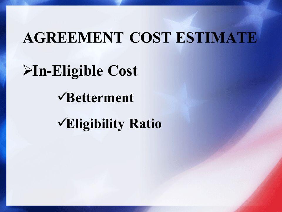AGREEMENT COST ESTIMATE Actual Cost Estimate Example Supplemental Estimate Example  Detail of Estimate Itemized Cost Estimate Unit Cost Estimate
