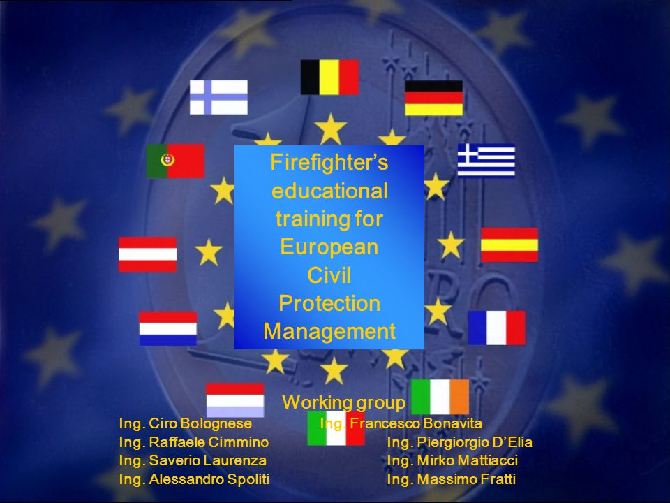 THE SYSTEM TO MANAGE THE OPERATIONS THE SYSTEM IS BASED ON A GENERAL PLAN PROPOSED BY THE E.U.