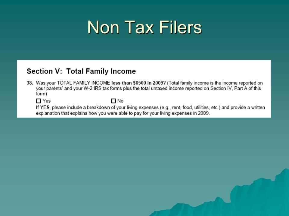 Non Tax Filers