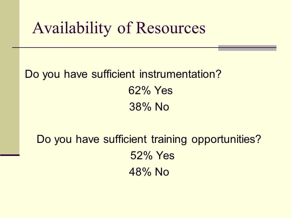 Do you have sufficient instrumentation.