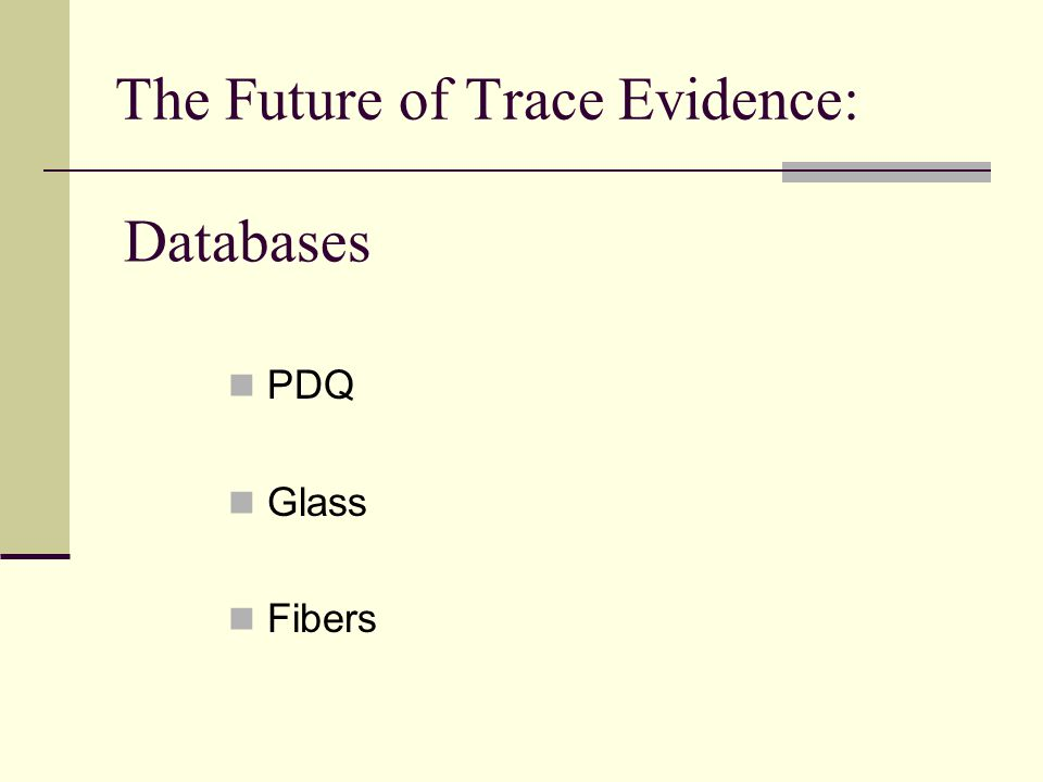 PDQ Glass Fibers Databases