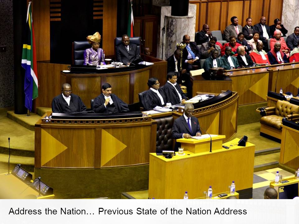 Address the Nation… Previous State of the Nation Address