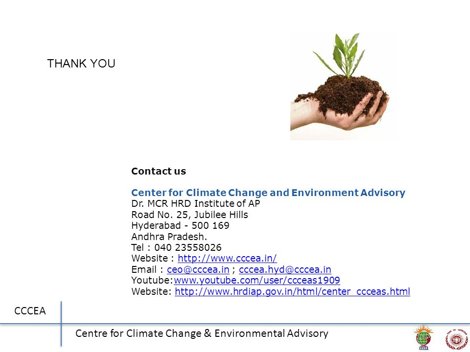 CCCEA Centre for Climate Change & Environmental Advisory Contact us Center for Climate Change and Environment Advisory Dr.