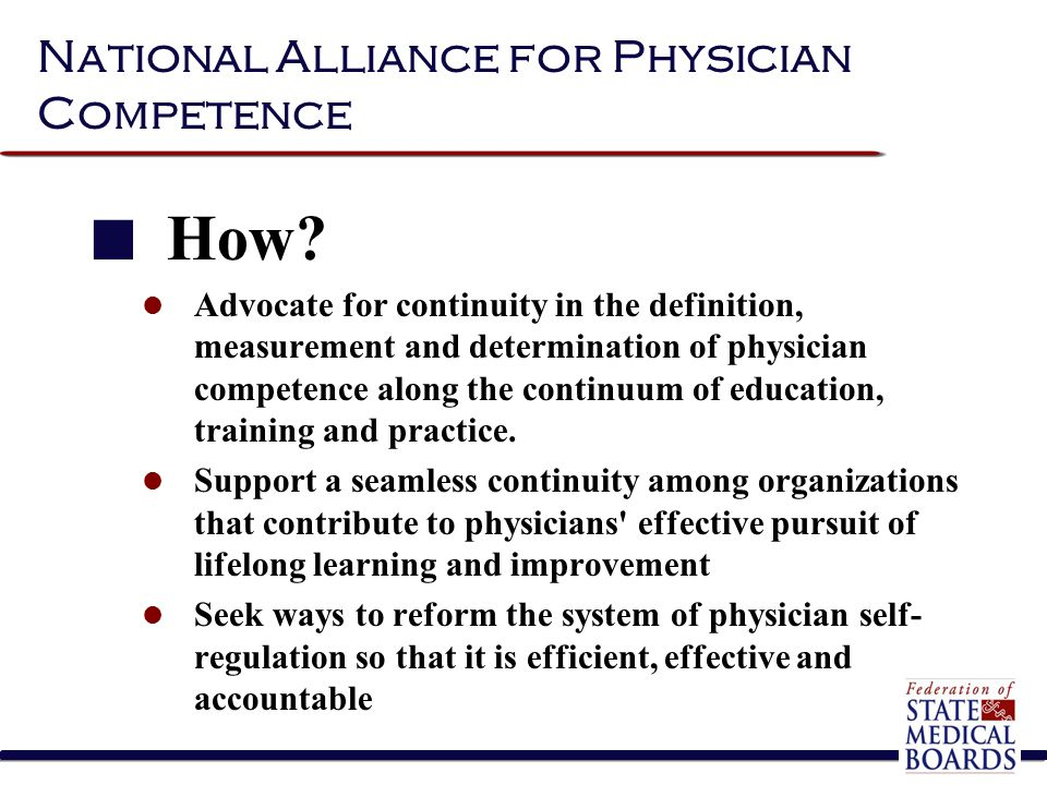 National Alliance for Physician Competence How.