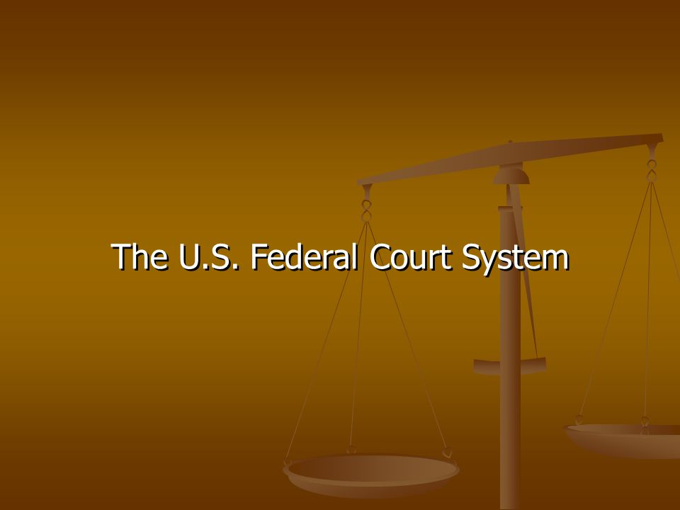 The U.S. Federal Court System