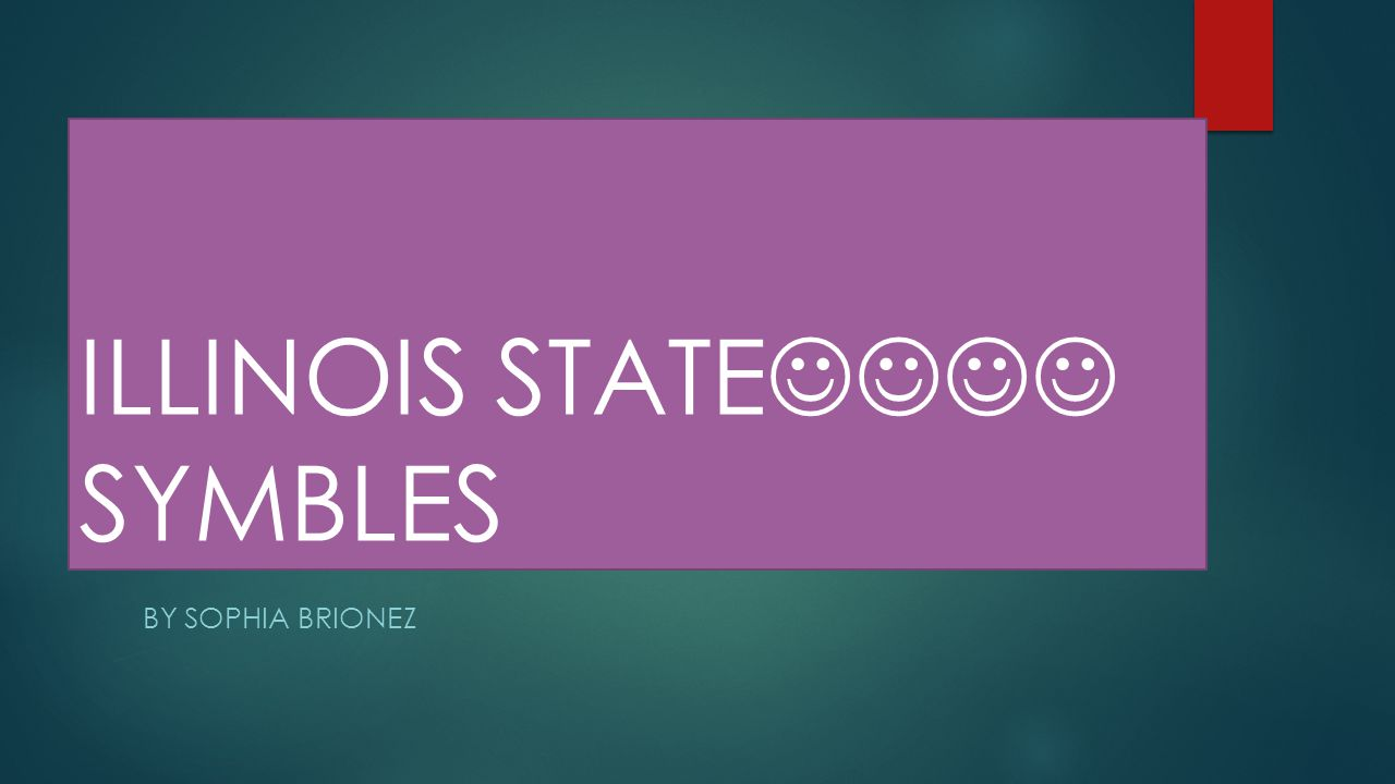 ILLINOIS STATE SYMBLES BY SOPHIA BRIONEZ