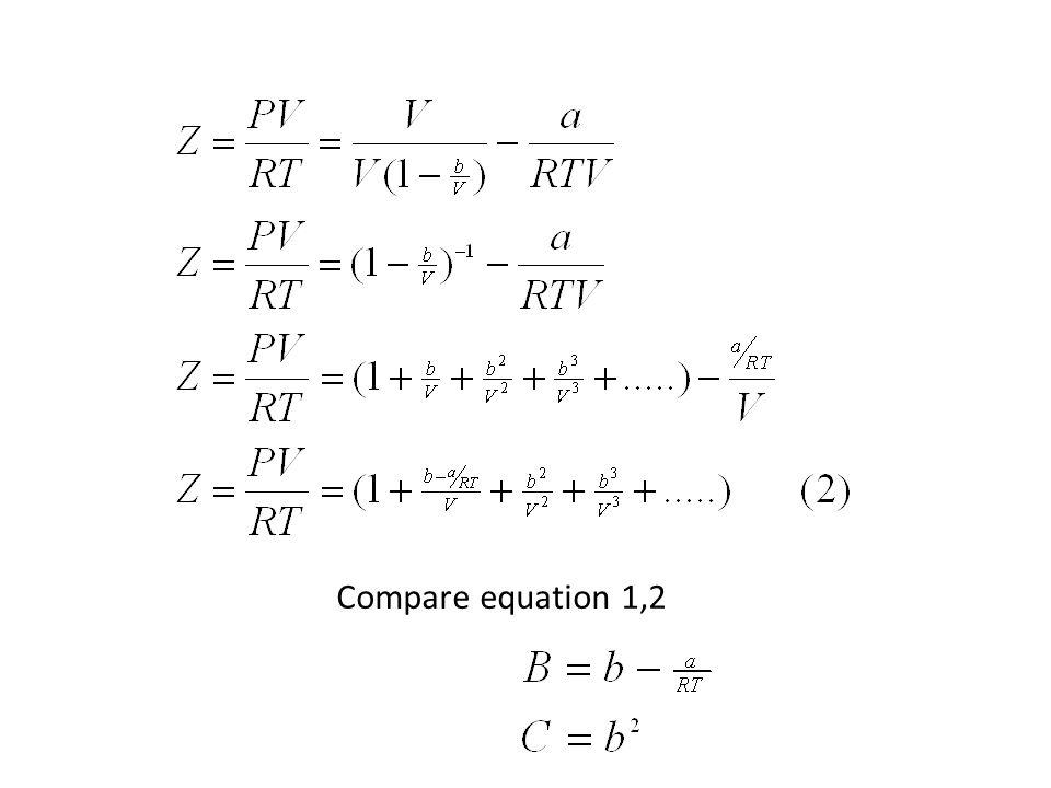 Compare equation 1,2