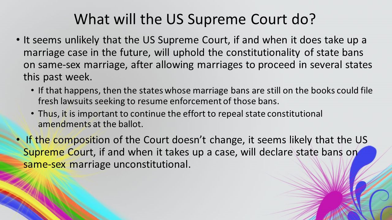 What will the US Supreme Court do.