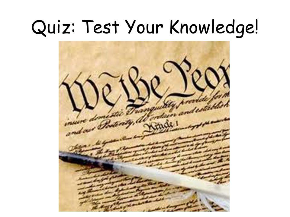 Quiz: Test Your Knowledge!