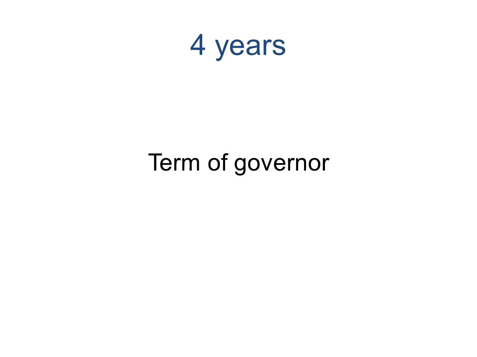 4 years Term of governor
