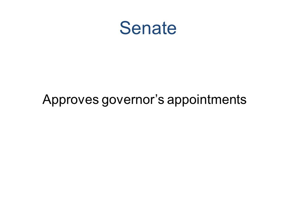 Senate Approves governor's appointments