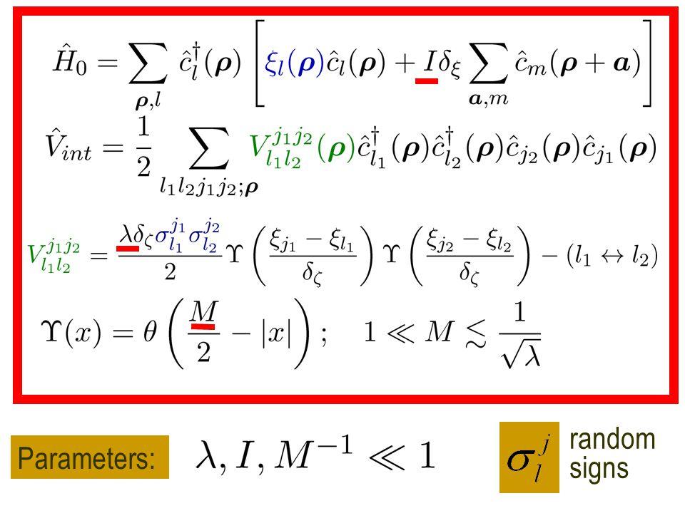 Parameters: random signs