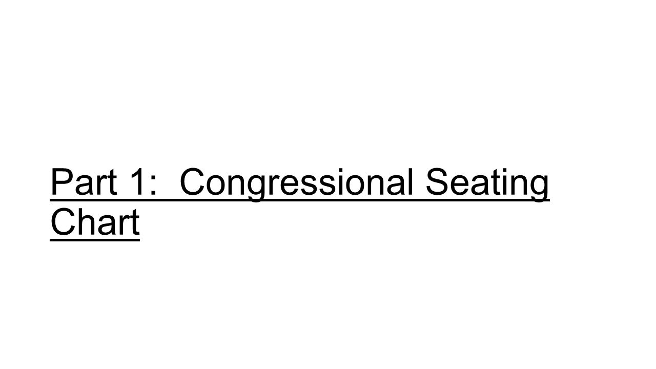 Part 1: Congressional Seating Chart