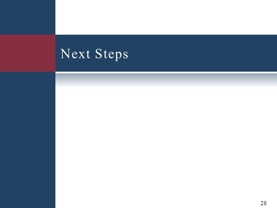 Next Steps 28
