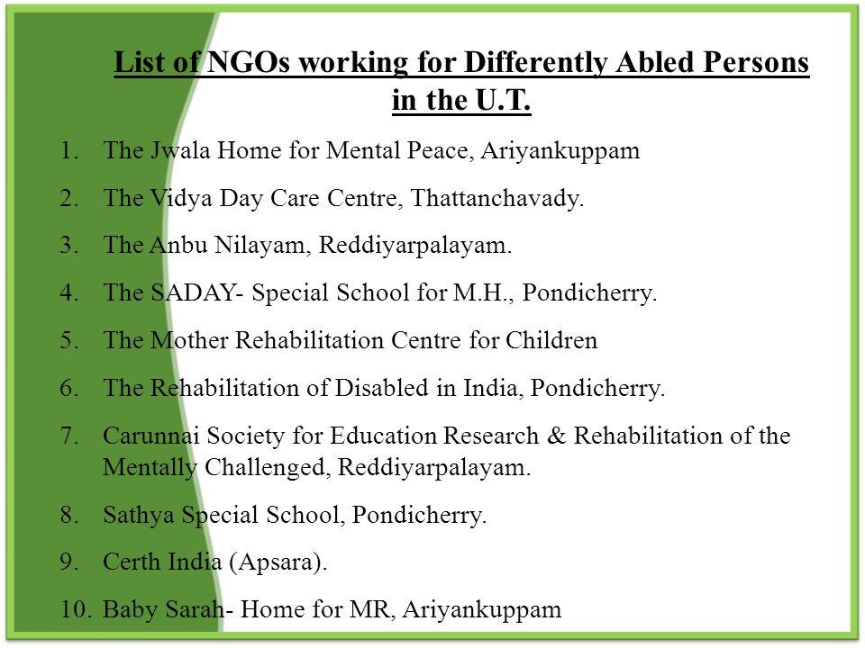 Secretary to Government (Social Welfare), Chief Secretariat, Puducherry.