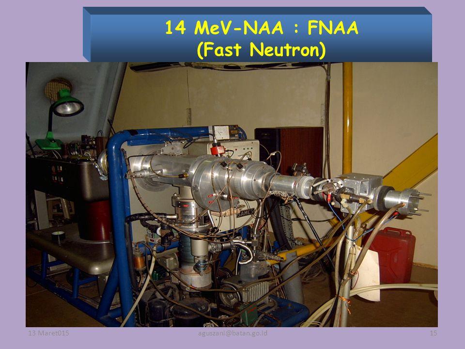 14 MeV-NAA : FNAA (Fast Neutron) 13 Maret01515aguszani@batan.go.id